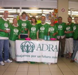 Algunos voluntarios de la delegacion de ADRA-España en Vigo. Foto: ADRA Vigo